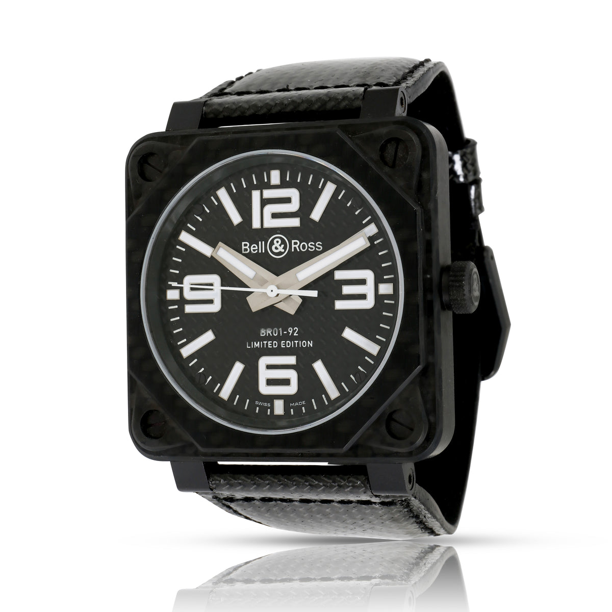 Bell and Ross Aviation BR01-92-C Men's Watch in Carbon Fiber
