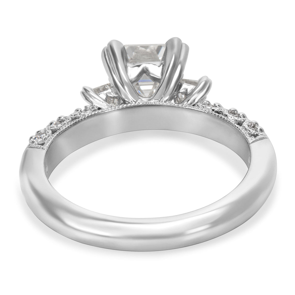 GIA Certified Tacori Diamond Engagement Ring in Platinum 1.93 ctw F VS1