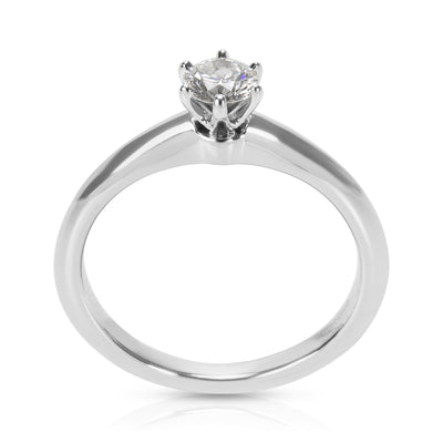 Tiffany & Co. Certified Diamond Engagement Ring in Platinum E VS1 0.26