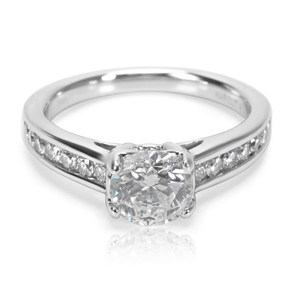 IGI Certified Diamond Engagement Ring in 14K White Gold 0.97 ctw G I1