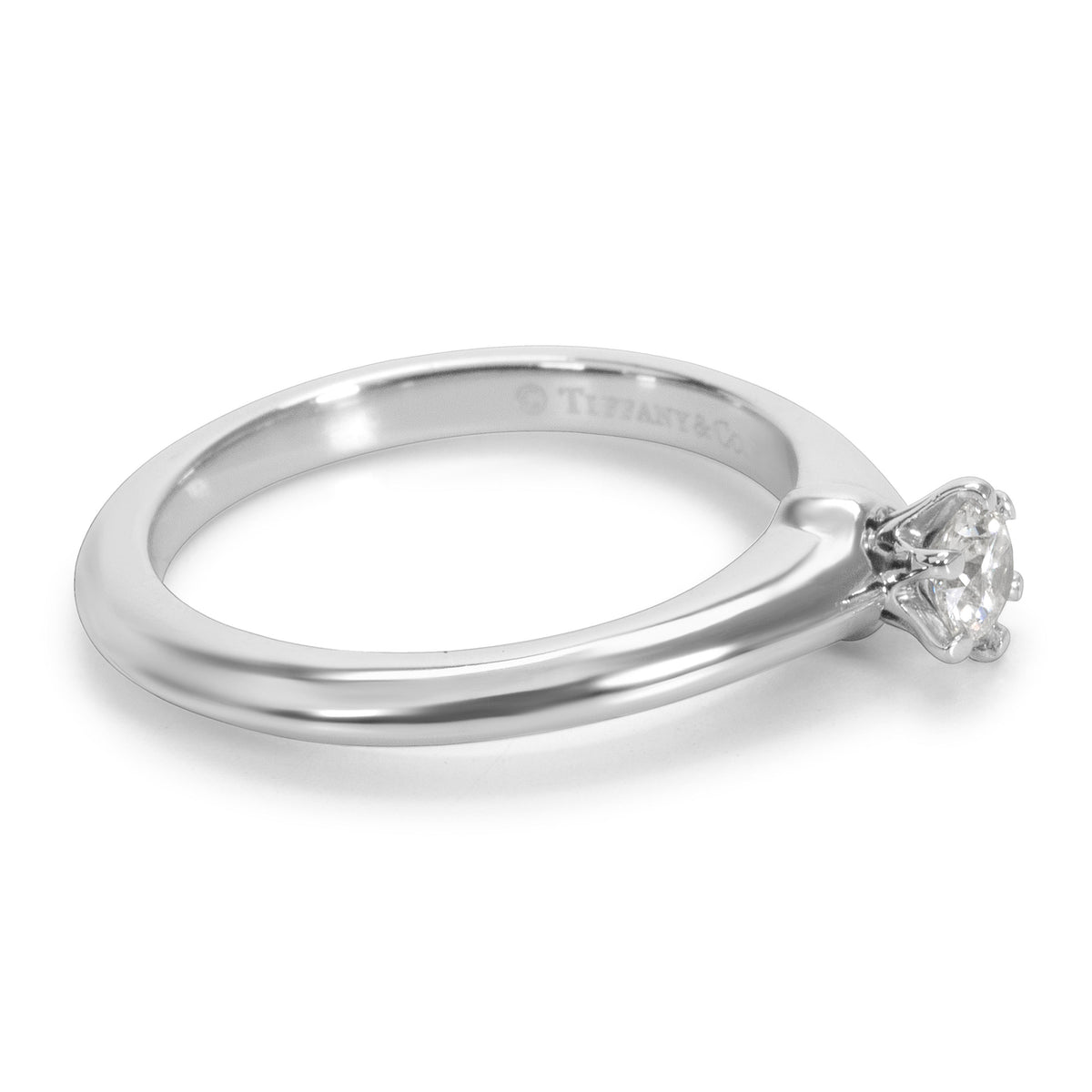 Tiffany & Co. Diamond Solitaire Engagement Ring in Platinum (0.17 CTW)