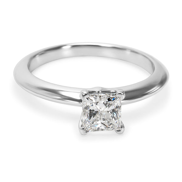 Tiffany & Co. Solitaire Princess Diamond Engagement Ring in Platinum 0.53 ct