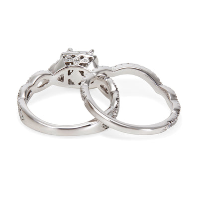 Neil Lane Diamond Engagement Bridal Set 14K White Gold 1.30 ctw