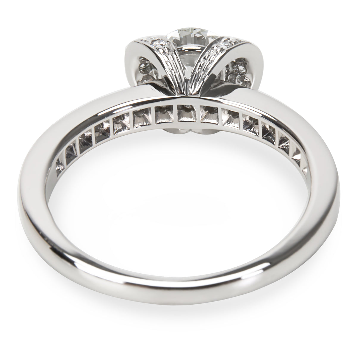 Tiffany & Co. Ribbon Diamond Engagement Ring in Platinum 0.55 ctw H-VS1
