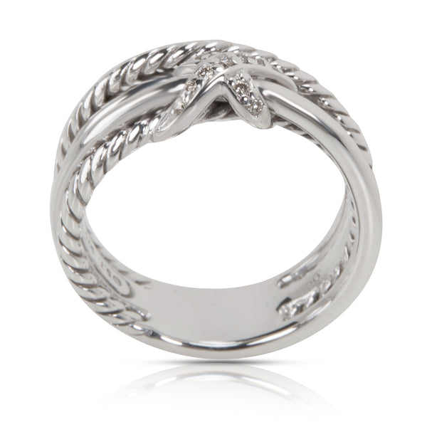 David Yurman X Collection Diamond Ring in Sterling Silver