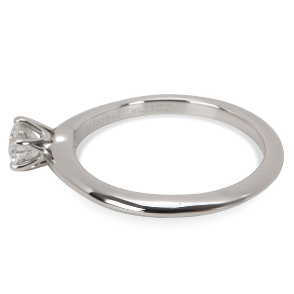 Tiffany & Co. Diamond Solitaire Engagement Ring in Platinum (0.37 ct G/VS1)