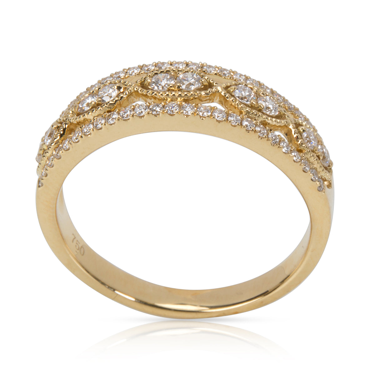 Diamond Band in18KT Yellow Gold 0.36 ctw