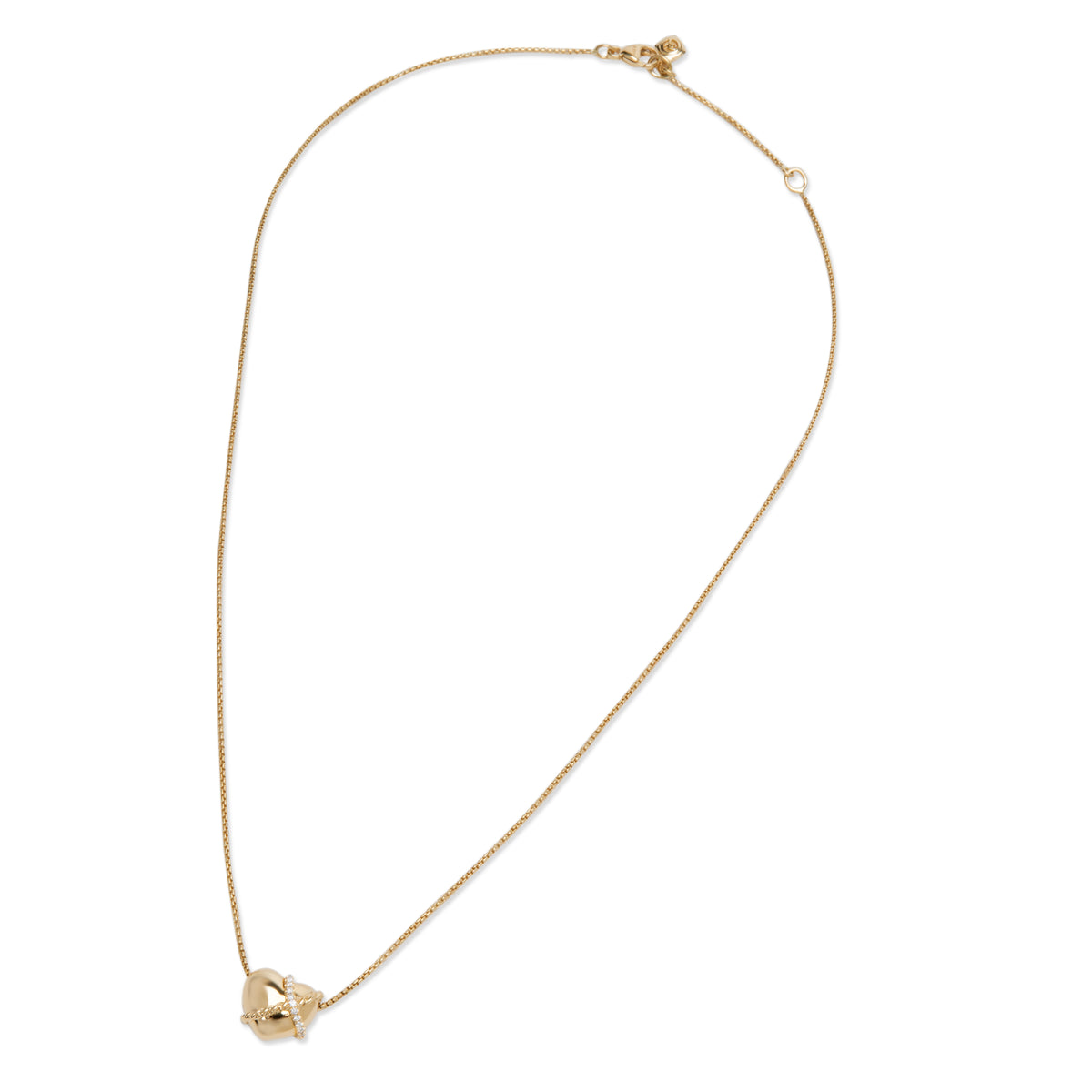 David Yurman Diamond Heart Pendant in 18K Yellow Gold (0.05 CTW)