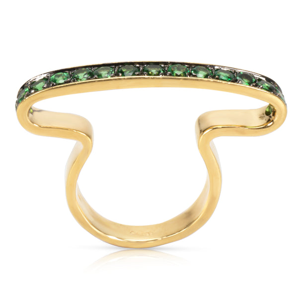 Green Tsavorite Fashion Ring in 18K Yellow Gold
