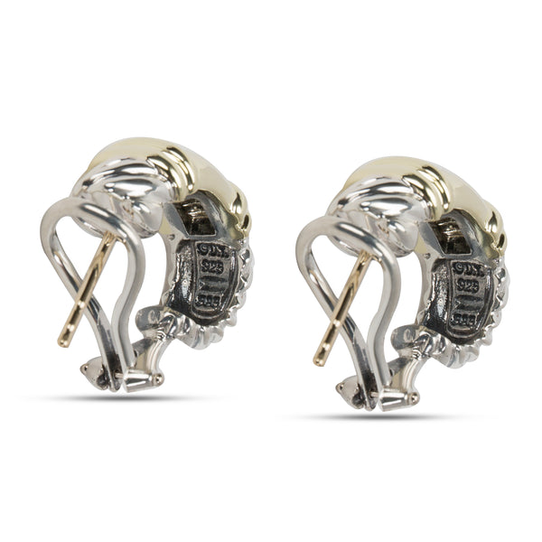 David Yurman Shrimp Earrings in Sterling Silver & 14K Yellow Gold