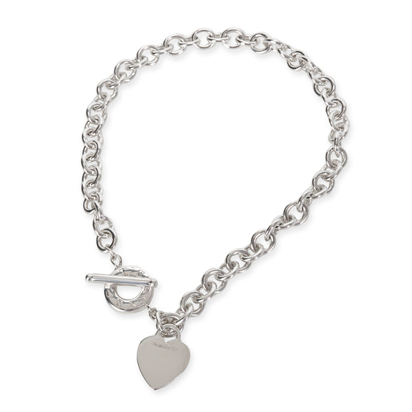 Tiffany & Co. Heart Tag Toggle Necklace in Sterling Silver