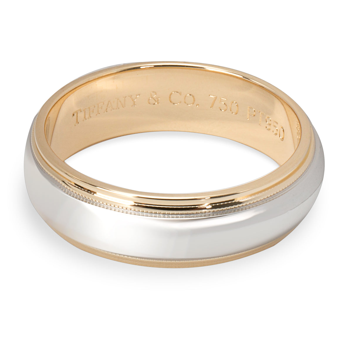 Tiffany & Co. Classic Milgrain Band in Platinum & 18K Yellow Gold