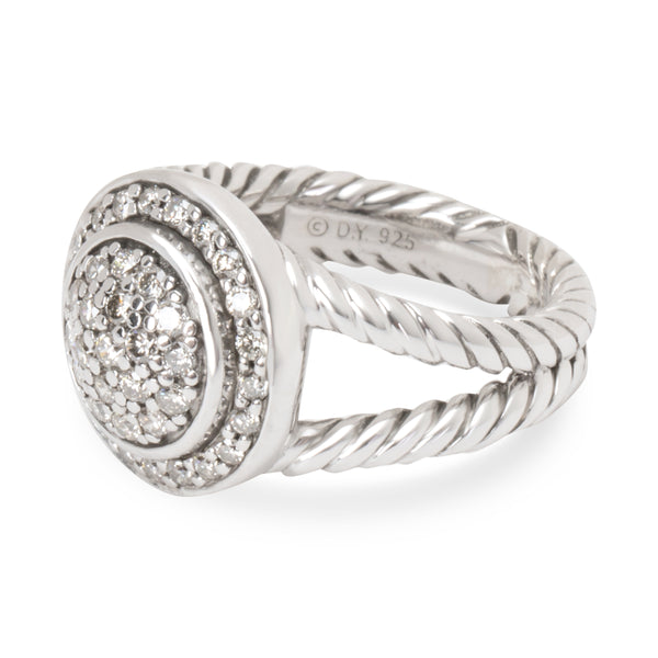 David Yurman Diamond Petite Cerise Ring in Sterling Silver