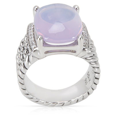 David Yurman Wheaton Lavendar Moon Quartz & Diamond Ring