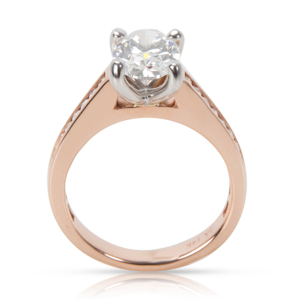GIA Certified James Allen Diamond Engagement Ring in 14K Rose Gold 1.23CT F/VVS1