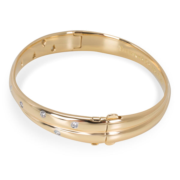 Tiffany & Co. Twist Etoile Bangle in Platinum & 18K Yellow Gold (1/3 CTW)