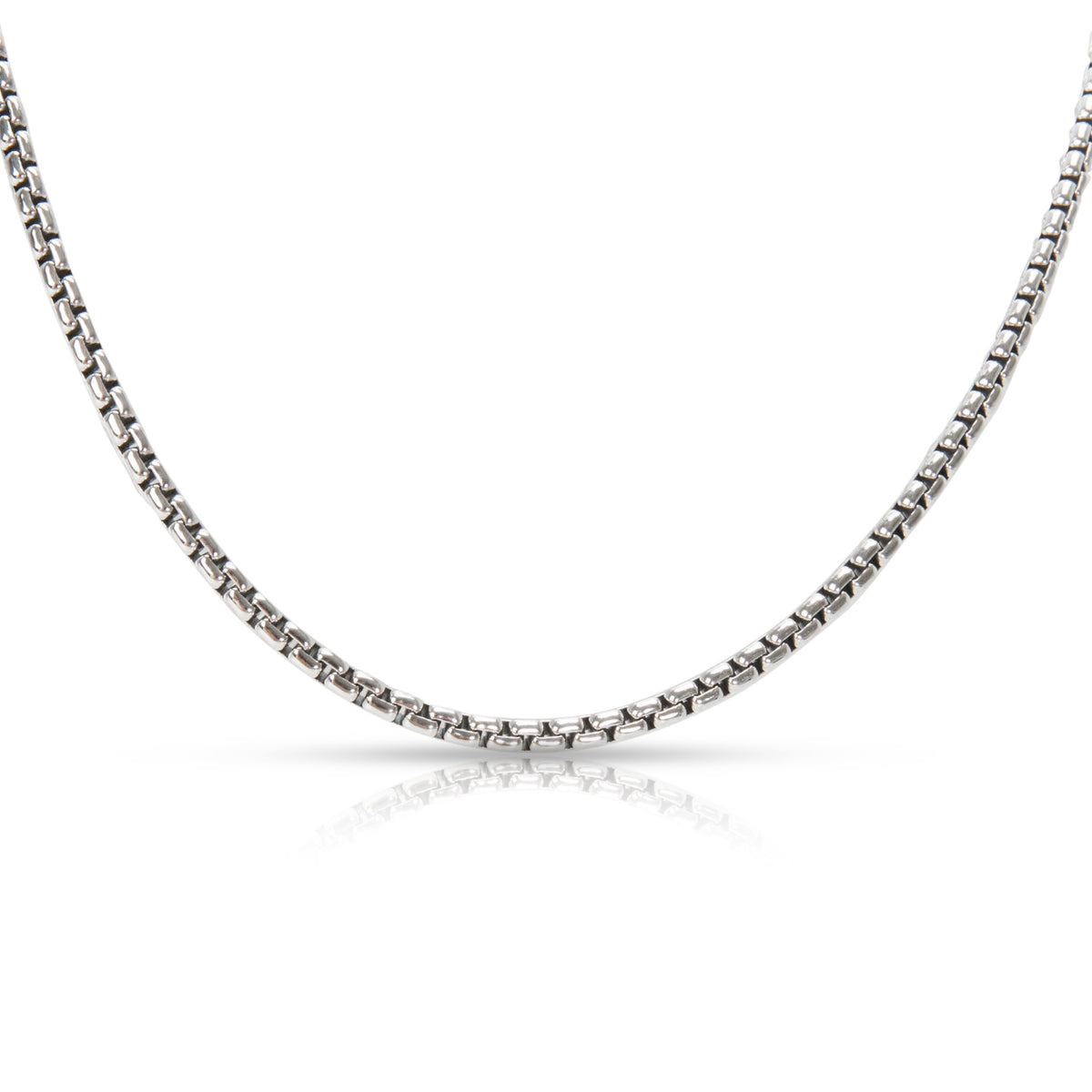 "David Yurman 17"" 2.6 mm Box Chain in Sterling Silver & 14K Yellow Gold"