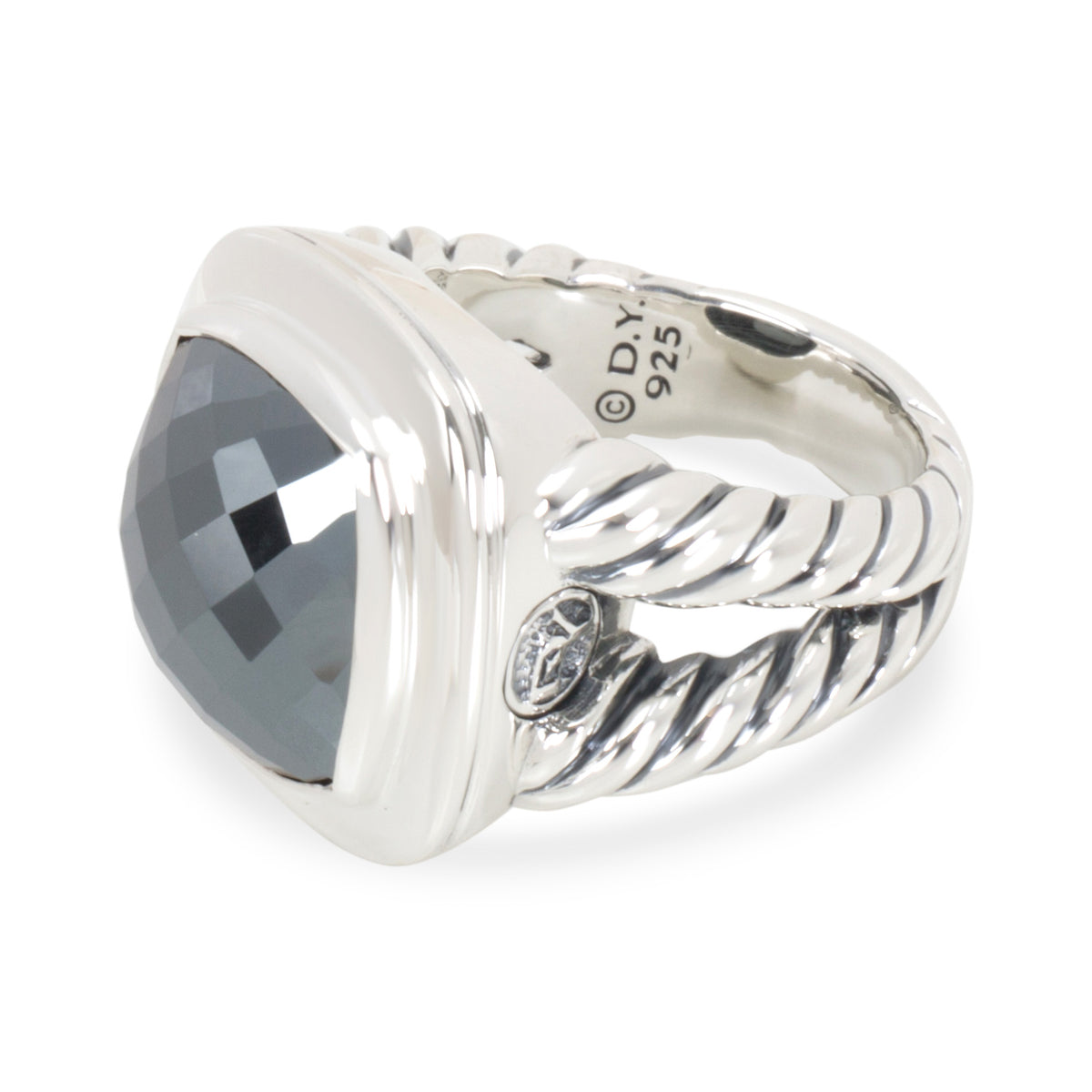 Sterling Silver David Yurman Hematite Albion Ring