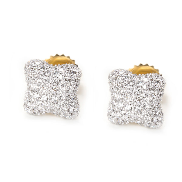 David Yurman Venetian Quatrefoil Diamond Earrings in 18K Yellow Gold