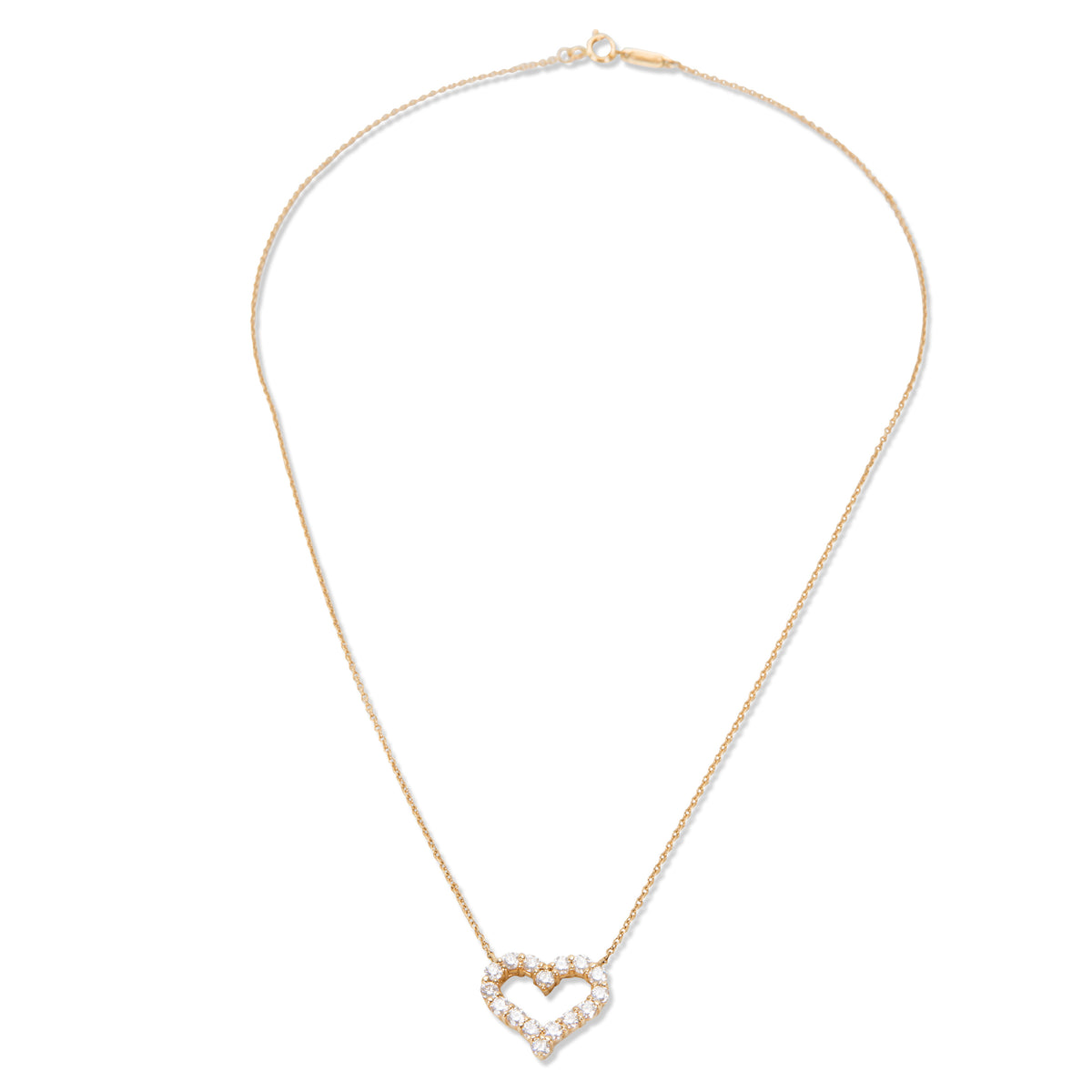Tiffany & Co. Diamond Heart Pendant Necklace in 18K Yellow Gold (0.62 CTW)