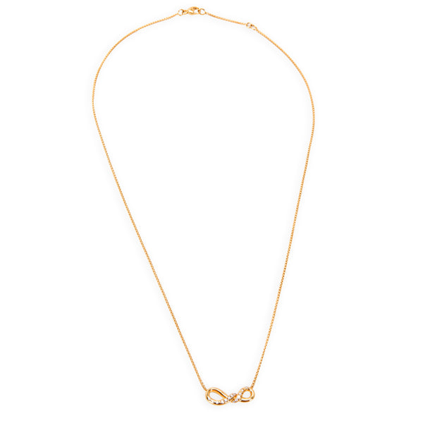 David Yurman Diamond Continuance Pendant in 18K Yellow Gold 0.09 ctw