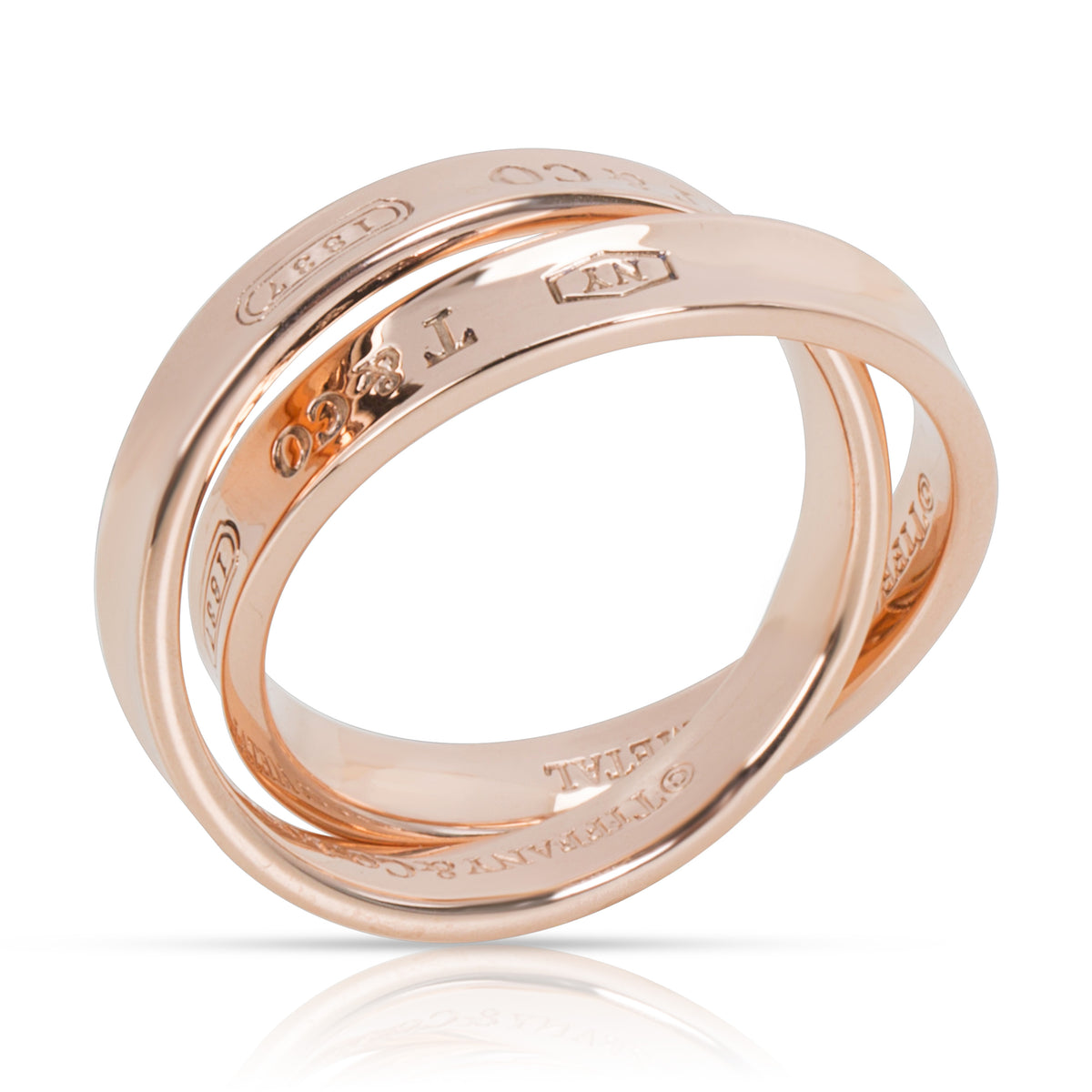 Tiffany & Co. 1837 Rubedo Interlocking Circles Ring in 8K Rose Gold