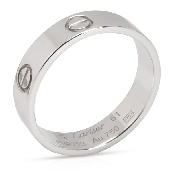 Cartier Love Ring in 18K White Gold (Size 61)