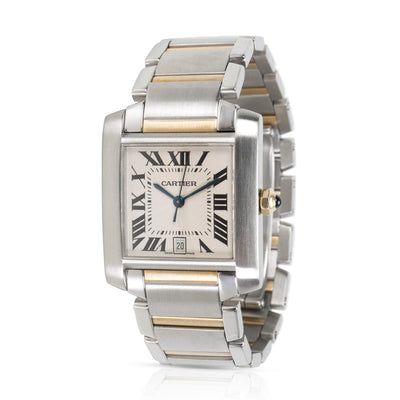 Cartier Tank Francaise W51005Q4 Men's Watch in 18kt Stainless Steel/Yellow Gold