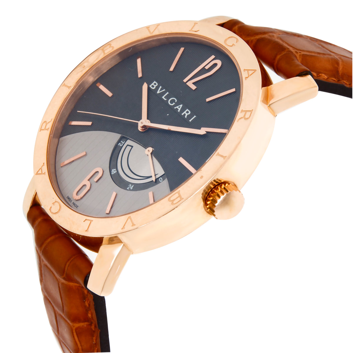 Bulgari Bvlgari Bvlgari BB P 41 GL Men's Watch in 18kt Rose Gold