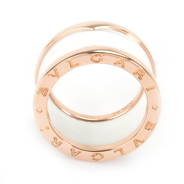 Bulgari B Zero 1 Ceramic Ring in 18K Rose Gold