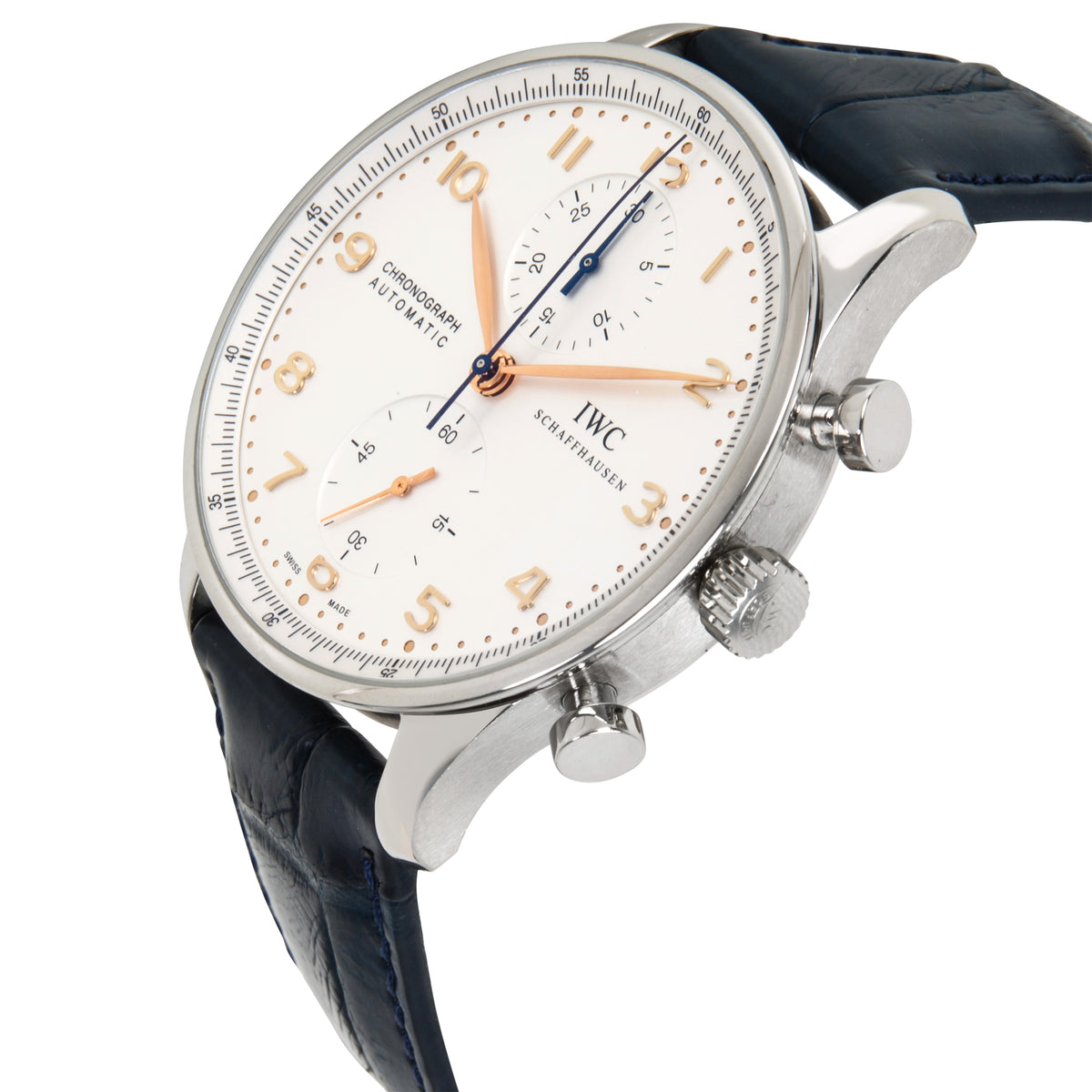 IWC Portugieser Chronograph IW371445 Men's Watch in  Stainless Steel
