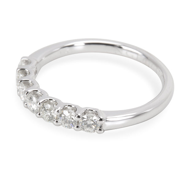 7 Stone U Prong Diamond Band in 14K White Gold 0.5 CTW