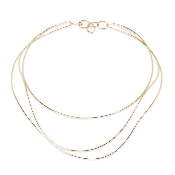 Tiffany & Co. Elsa Peretti Wave Necklace in 18K Yellow Gold