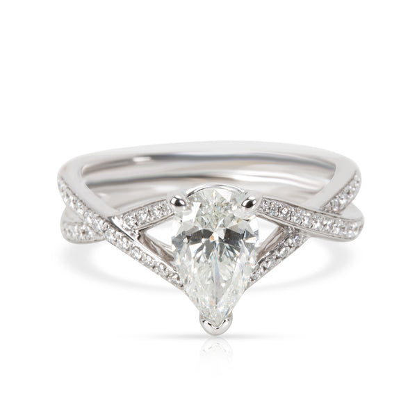 Simon G Diamond 18kt White Gold Engagement Ring 0.73 G SI2 Pear Shape (0.85 CTW)