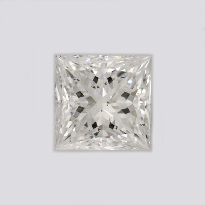 GIA Certified Princess cut, H color, SI1 clarity, 0.38 Ct Loose Diamonds