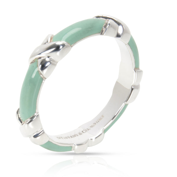 Tiffany & Co. Signature X Enamel Ring in  Sterling Silver