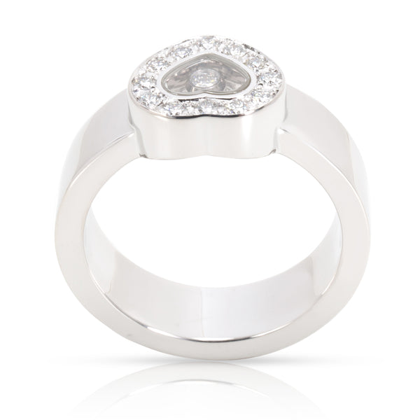Chopard Happy Hearts Diamond Ring in 18K White Gold 0.29 CTW