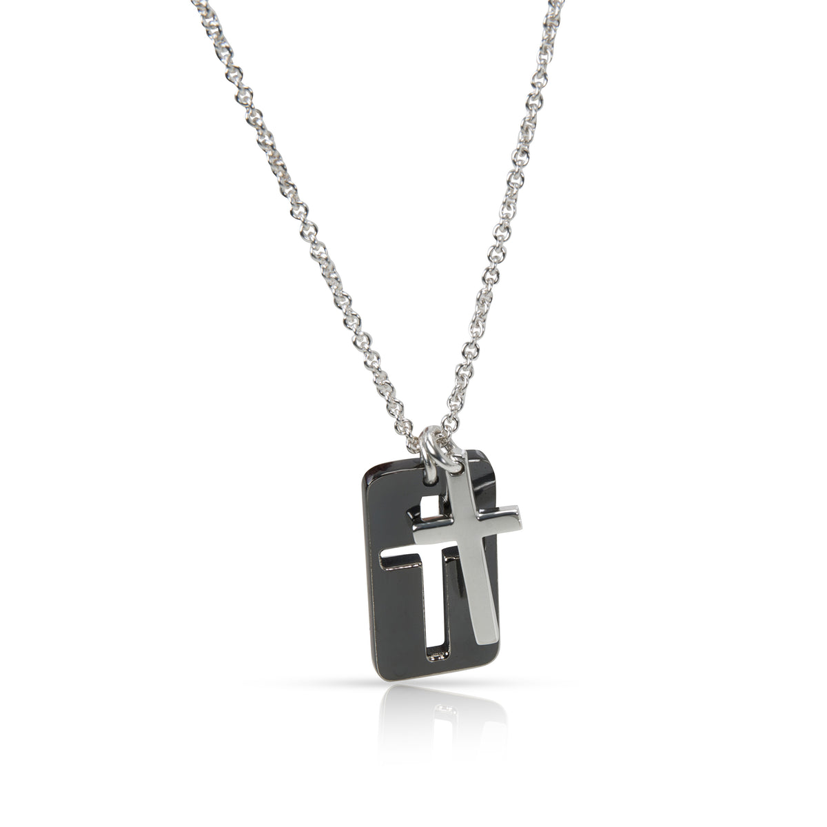 Tiffany & Co. Cut Out Cross Necklace in  Sterling Silver