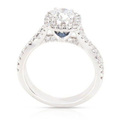 Vera Wang Love Collection Diamond Engagement Ring in 14K White Gold 1 CT
