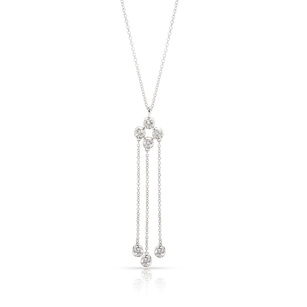 Tiffany & Co. Jazz Triple Strand Diamond Necklace in  Platinum 0.7 CTW