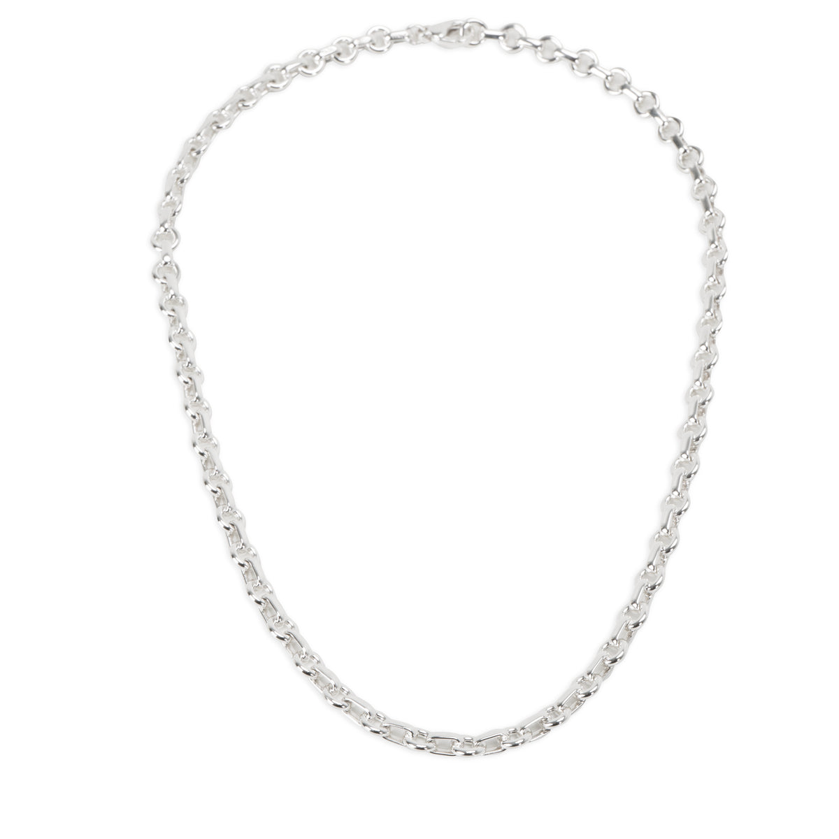 Tiffany & Co. Round Oval Link Necklace in  Sterling Silver