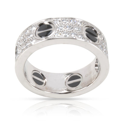 Cartier Diamond Love Diamond Eternity Band in 18KT White Gold 0.74 CTW