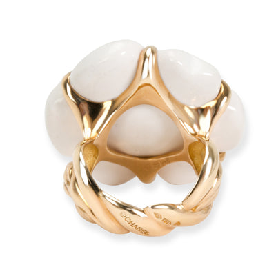Chanel Camelia Flower Ring in 18KT Yellow Gold