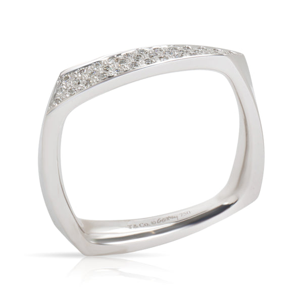 Tiffany & Co. Gehry Torque Diamond Ring in 18KT White Gold 0.18 CTW