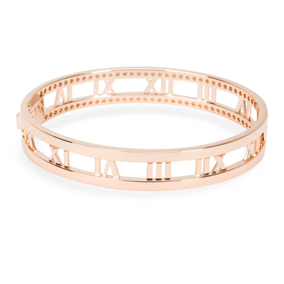 Tiffany & Co. Atlas Diamond Bangle in 18KT Rose Gold 0.91 CTW