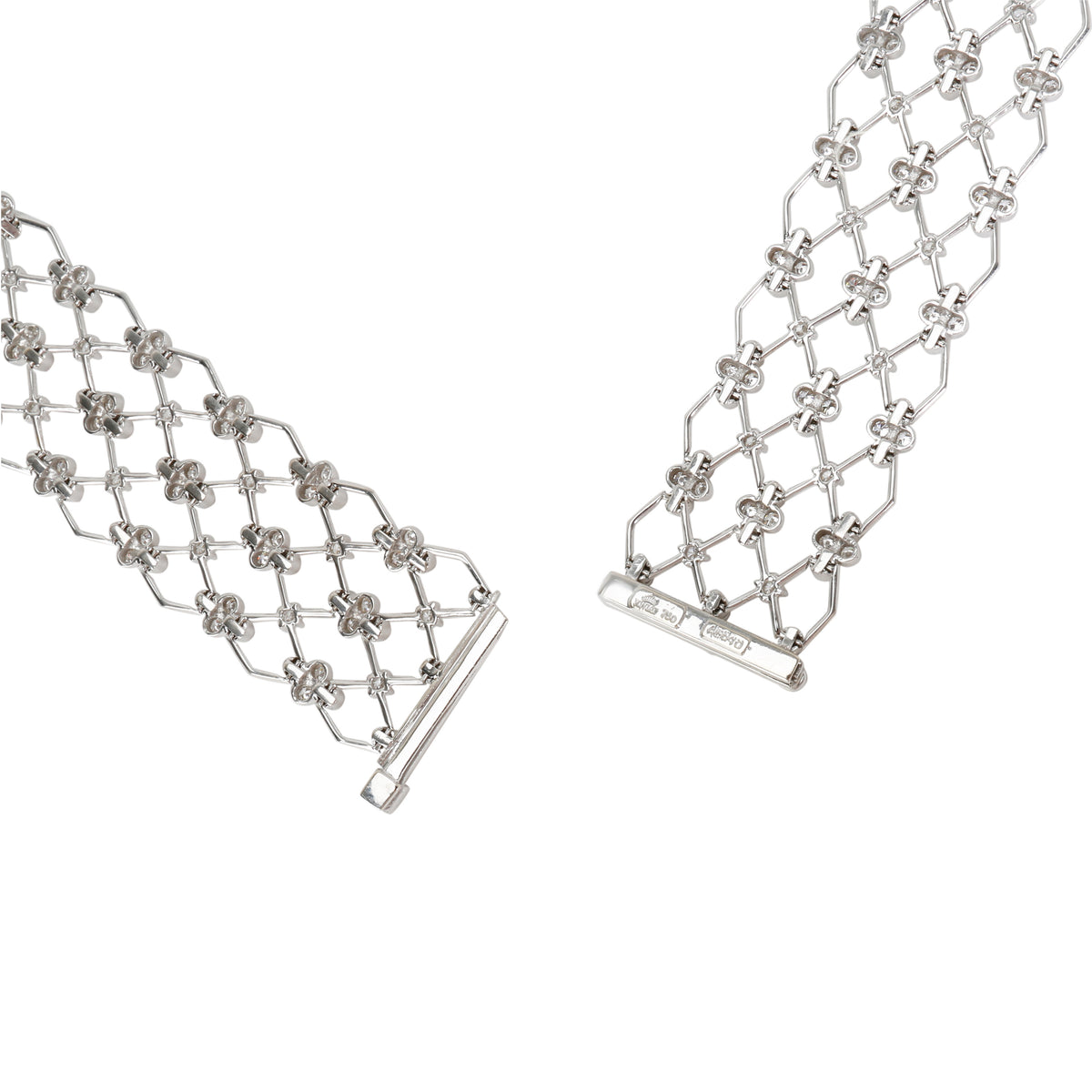 Kwiat Jasmine Diamond Necklace in 18KT White Gold 17.44 CTW