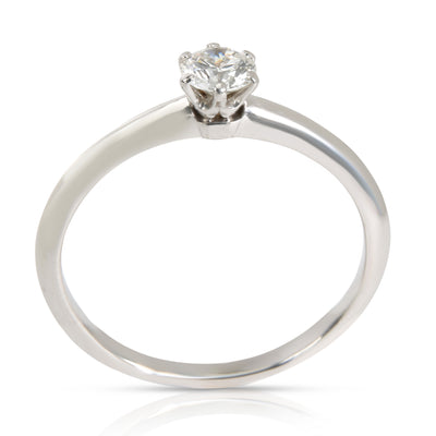 Tiffany & Co. Solitaire Diamond Engagement Ring in Platinum (0.34 ct F/VS2)