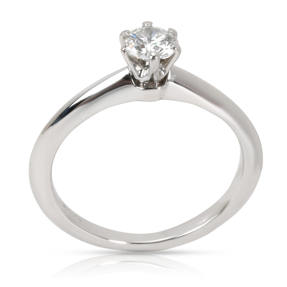 Tiffany & Co. Solitaire Diamond Engagement Ring in  Platinum E VVS2 0.34 CTW