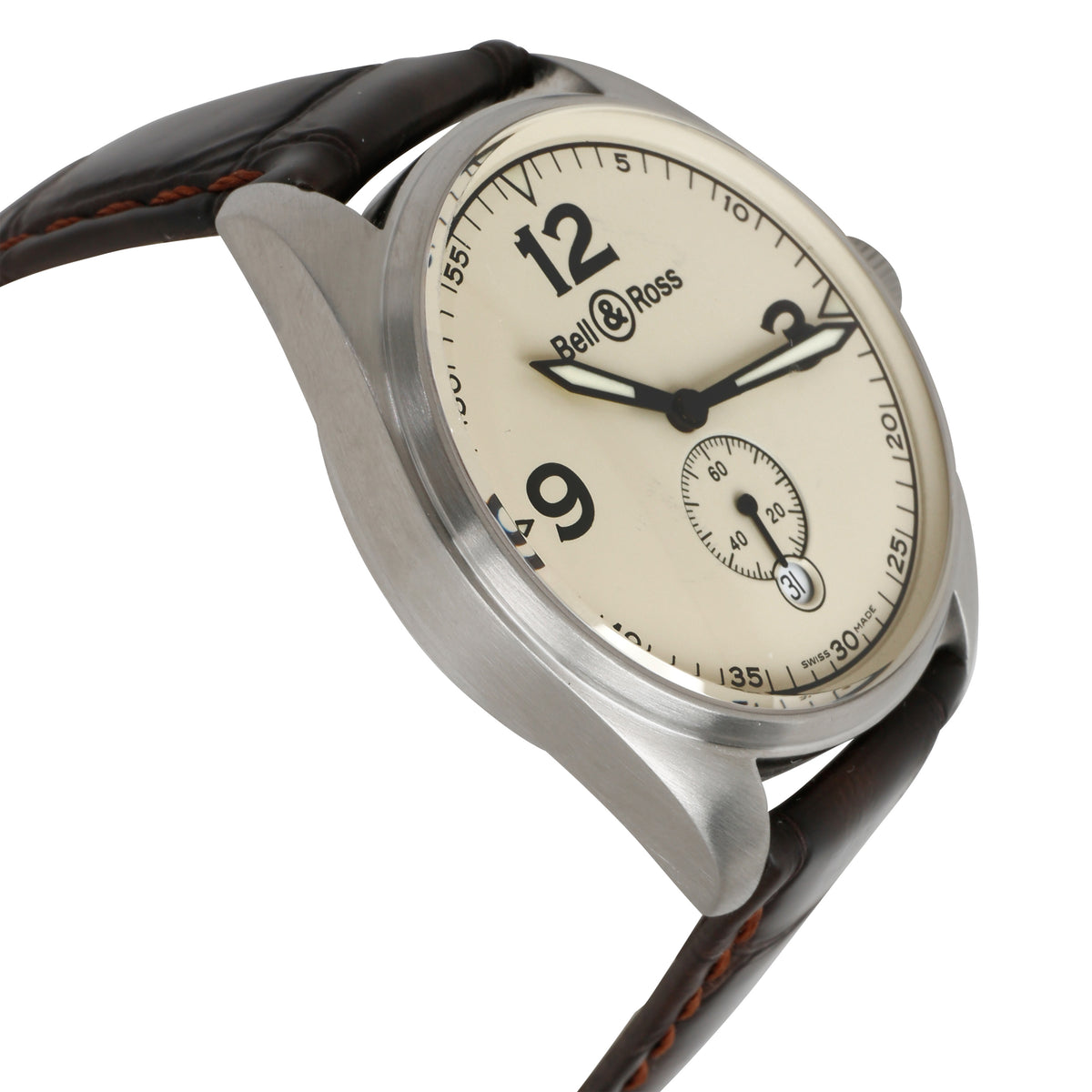 Bell & Ross Vintage BR123.A Men's Watch in  Stainless Steel
