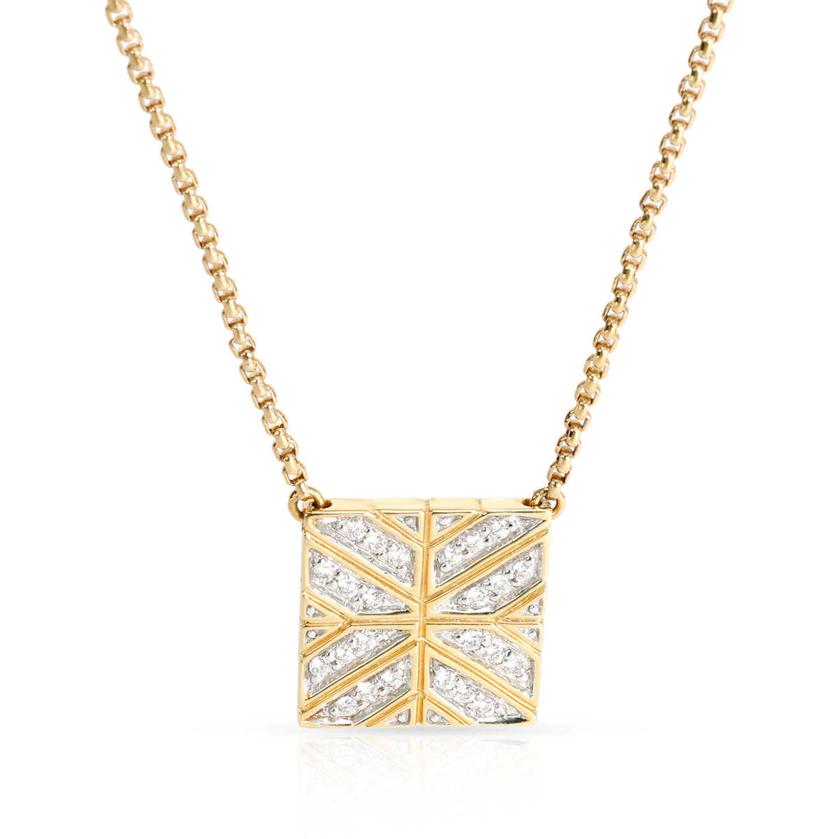 John Hardy Modern Chain Collection Diamond Fashion Necklace in 18K Yellow Gold 0